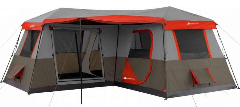 Ozark Trail Cabina Instantánea Para 12 Personas 16 X 16 Tienda De Campaña De 3 Habitaciones.