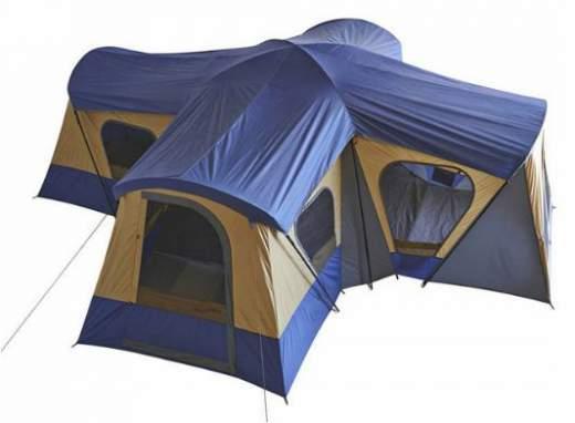 Tienda Cabaña Para 14 Personas En El Campamento Base De Ozark Trail.