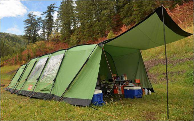 Tienda de campaña con aislamiento térmico Crua Loj para 6 personas.