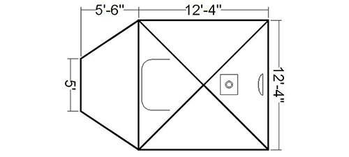 El plano y las dimensiones.