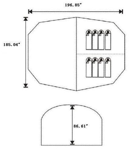 La planta y las dimensiones.