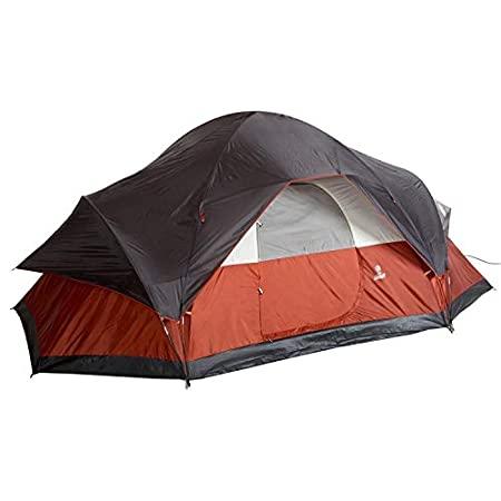 Tienda Coleman Red Canyon para 8 personas: forma de cúpula extendida.